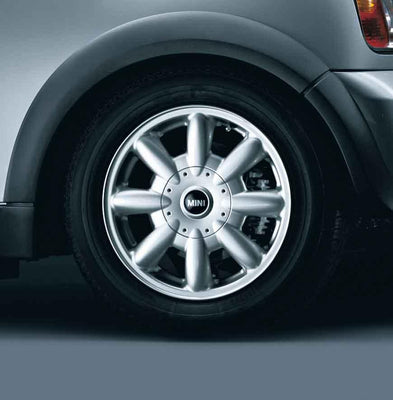 "MINI Genuine 15"" Inch Light Alloy Wheel 8-Spoke R82 Silver"
