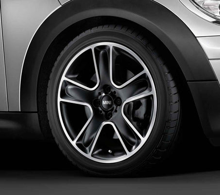 "MINI Genuine 17"" Inch Light Alloy Wheel Star Bullet R111 Black"