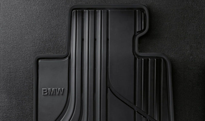 BMW Genuine All-Weather Rubber Front Car Floor Mats Black