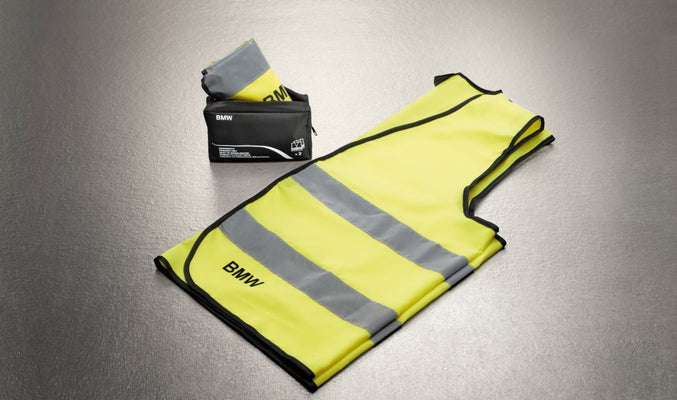 BMW Genuine Reflective Safety High Visibility Vest Yellow
