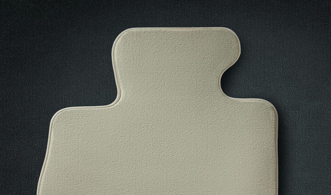 BMW Genuine Tailored Velour Car Floor Mats Set Oyster
