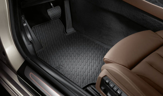 BMW Genuine All-Weather Rubber Floor Mats Front Black