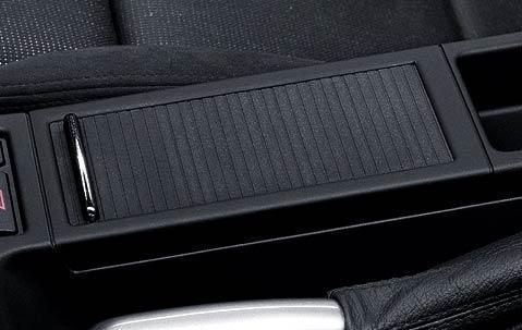 BMW Centre Armrest Tray/Storage+Roller Cover Black