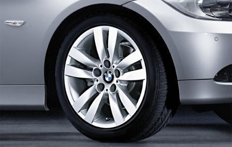 "1x BMW Genuine Alloy Wheel 17"" Double-Spoke 161 Front"
