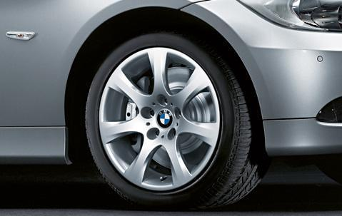 "1x BMW Genuine Alloy Wheel 17"" Star-Spoke 185 Rim"
