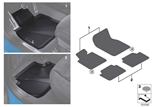 Front All Weather Floor mats for the new 1 series F40