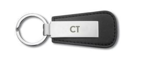 Genuine LEXUS CT Keyring Black Leather With CT Engraved Alloy Plate