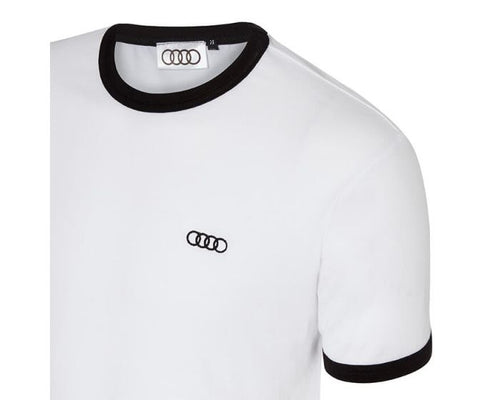 Audi Contrast White T-shirt