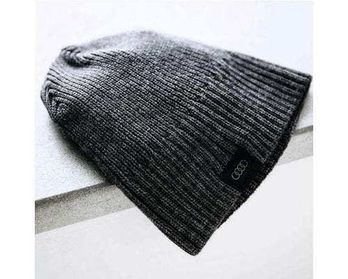 Audi Unisex Knitted Grey Beanie Hat
