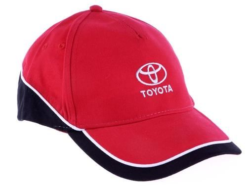 Toyota Mens Womens Casual Red/Black/White Branded Baseball Flexfit Cap