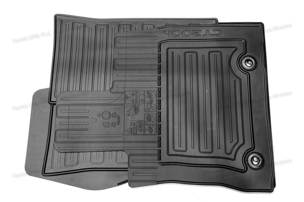 Lexus CT Front & Rear Rubber Floor Mats Black