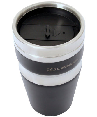 Genuine Lexus Black Stainless Steel Contour Thermal Tumbler Travel Mug 350ml