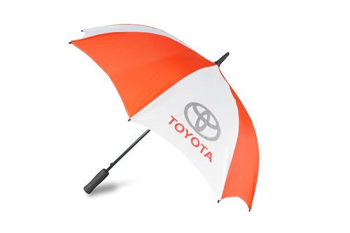 Toyota Red & White Branded Dome Umbrella