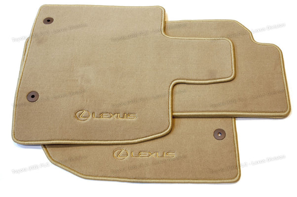 Lexus RX 4x Luxury Carpet Floor Mats 860g  Ivory