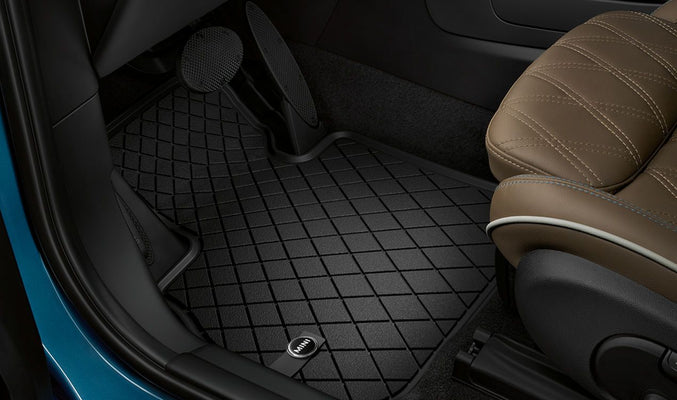 MINI Genuine All Weather Floor Mats Black Design Front Set