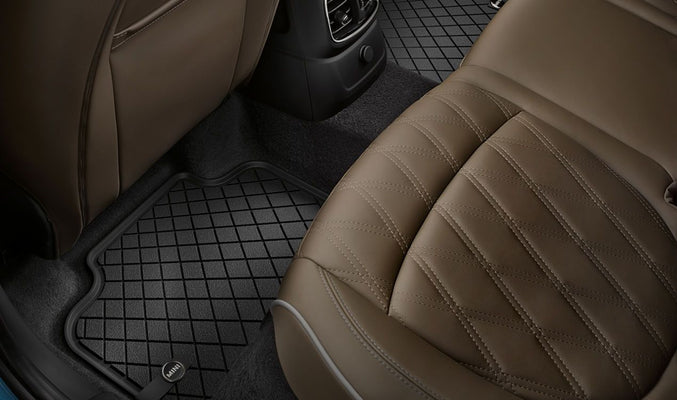 MINI Genuine All Weather Floor Mats Essential Black Rear