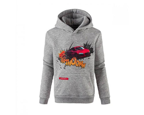 Audi Sport Children's Grey Hoody with R8 Comic Print