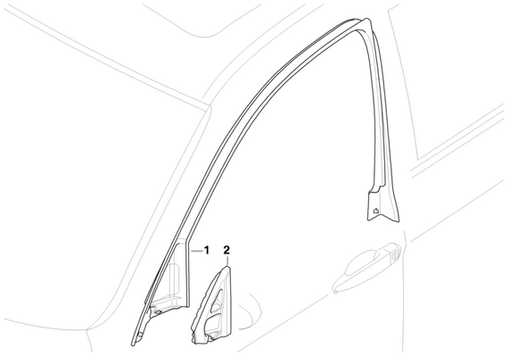 BMW Genuine Front Left Door Window Frame Top Trim Surround