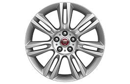 "Jaguar Alloy Wheel 18"" Style 7009, 7 split spoke, Silver"