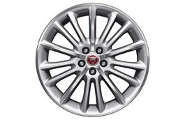 "Jaguar Alloy Wheel 19"" Style 1015, 15 spoke, Silver, Front"