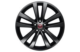 "Jaguar Alloy Wheel 19"" Style 5031, 5 split spoke, Gloss Black, Rear"