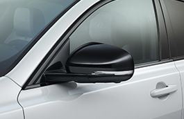 Jaguar Mirror Cover Gloss Black, Left Side