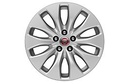 "Jaguar Alloy Wheel 17"" Style 1017, 10 spoke, Silver"