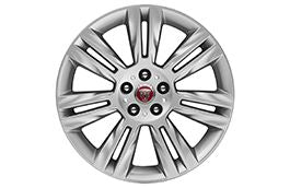 "Jaguar Alloy Wheel 18"" Style 7011, 7 split spoke, Silver"