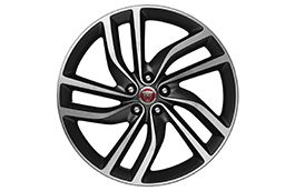 "Jaguar Alloy Wheel 20"" Style 5036, 5 split spoke, Satin Dark Grey Diamond Turned finish"