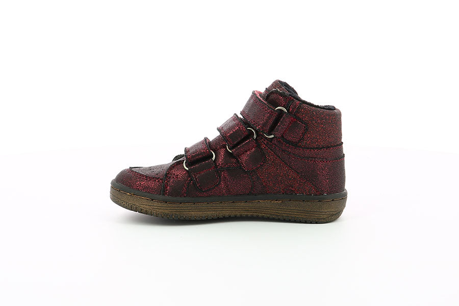 Ghete copii - Kickers Lohan bright burgundy
