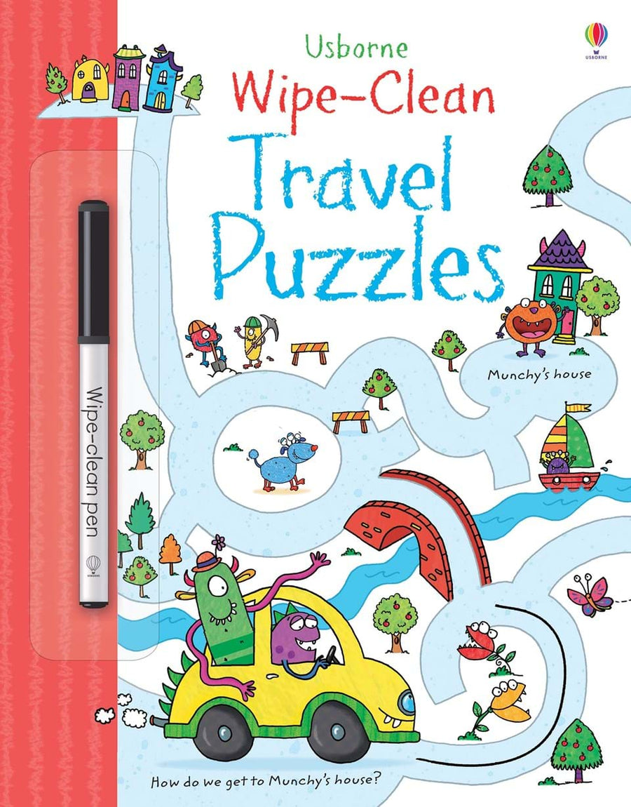 Carte cu marker- Travel Puzzles Wipe-Clean
