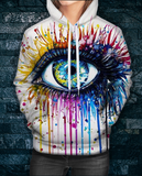 Rainbow Eye Hoodie by Pixie Cool Arts - Sapphic . Honesty