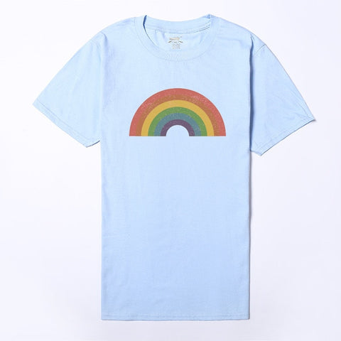 Vintage Rainbow T-shirt - Sapphic . Honesty