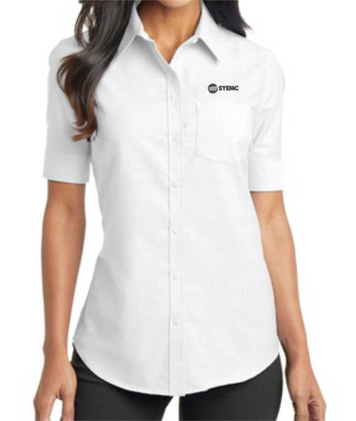Ladies Port Authority L659 short sleeve Superpro oxford shirt