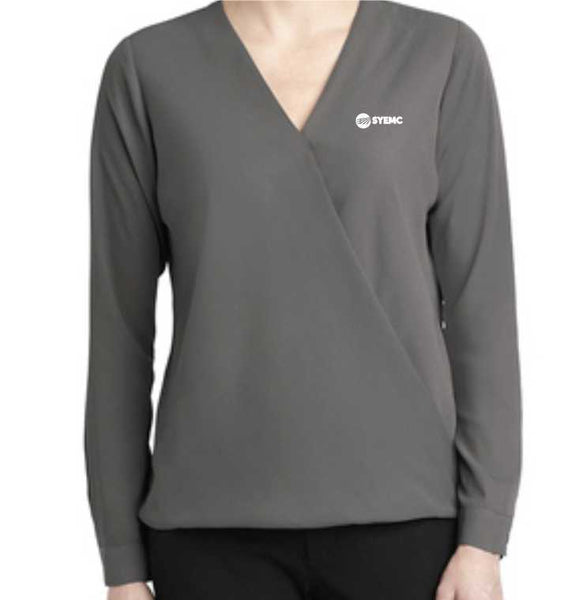 Ladies Port Authority LW702 wrap blouse