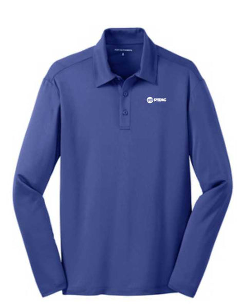 Mens Port Authority K540LS Long Sleeve silk touch performance polos