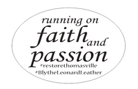 "Running on Faith 4""x6"" Decal"