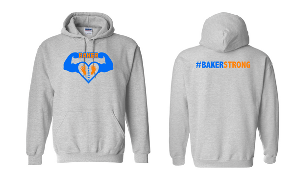 Baker Strong Gildan - Heavy Blend™ Hooded Sweatshirt - 18500