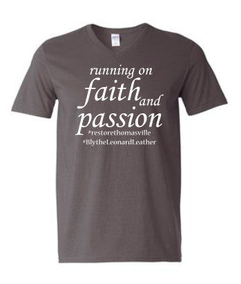 Running on Faith-Gildan - Softstyle® V-Neck T-Shirt - 64V00