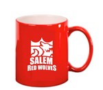 SKU: LMG22 - 11 oz. Red Ceramic Round LazerMug