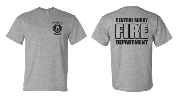 "Gildan - DryBlend® T-Shirt - 8000 ""Central Fire Department Design"""