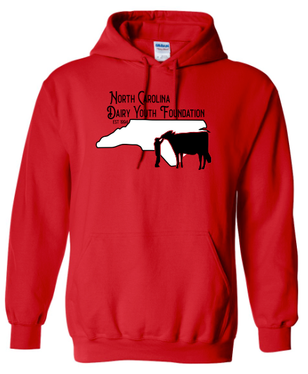 NC Dairy Youth Hooded Sweatshirts Adult & Youth 18500 & 18500B