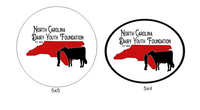 NC Dairy Youth  Foundation Decals