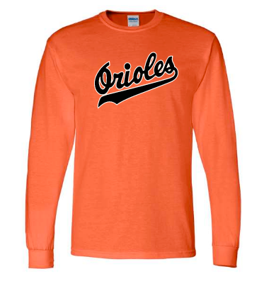 Orioles Long-sleeve Shirt Adult & Youth 8400 2400B