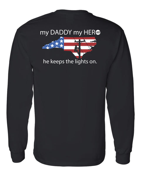 Long Sleeve T-Shirt 50/50 Dri Blend My Daddy