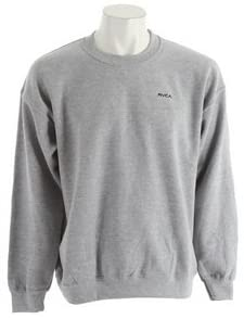 RVCA Men's Little RVCA Long Sleeve Crew Neck Fleece, (ATH) Athletic Heather, Size X-Large