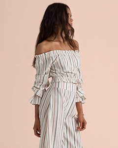 Billabong Womens Sincerely Jules Tulum Weathers Off The Shoulder Top