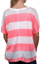 Load image into Gallery viewer, Billabong Big Crush Juniors High-Low T-Shirt - Coral Kiss (Small)