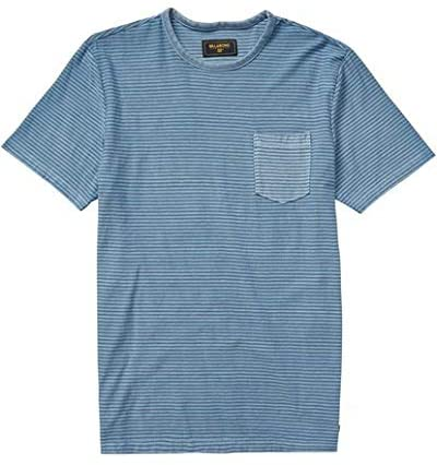 Billabong Men's Stringer Short Sleeve Crew, (POW) Powder Blue, Size Medium