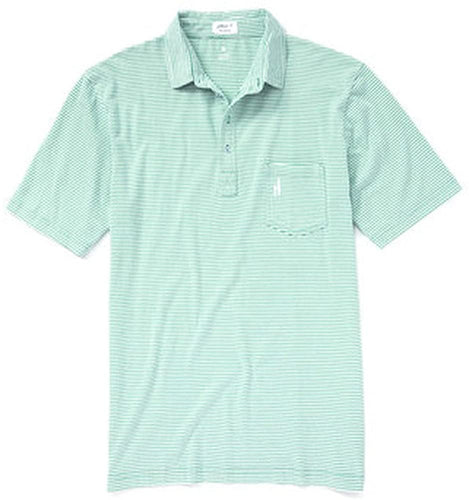 johnnie-O Mens' 4-Button Striped Polo Shirt